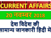 20 November 2018 Current affairs | Gktoday | Gk question