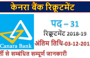 Canara Bank Recruitment | 31 Security Manager posts