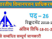 AAI Recruitment 2018 | 26 Senior Assistant posts