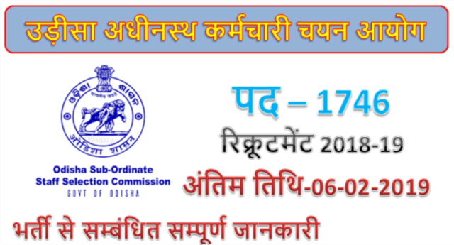 OSSSC 1746 Clerk Assistant posts