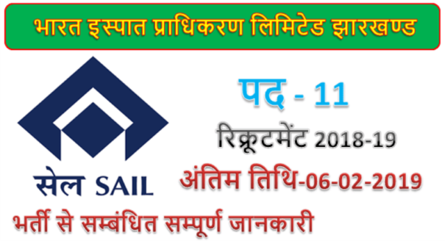 SAIL 11 Junior Manager Jobs