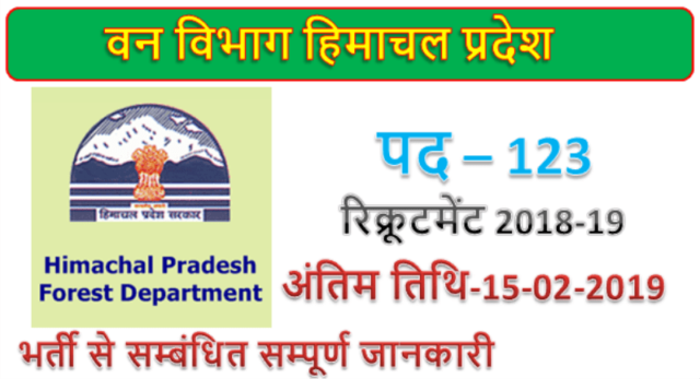 Himachal Pradesh Forest Department 123 Forest Guard posts