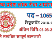 Mppsc recruitment 2019 | 1065 Medical Officer Jobs