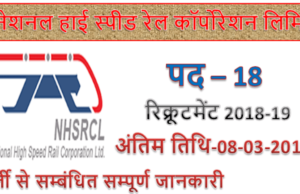 NHSRCL Recruitment 2019 | 18 Manager Jobs