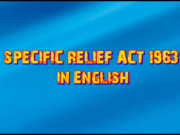 THE SPECIFIC RELIEF ACT, 1963