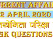 2 April 2020 Current affairs