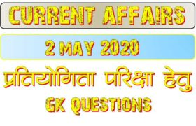 2 May 2020 Current affairs