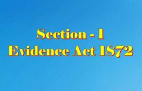 Section 1 of Indian Evidence Act