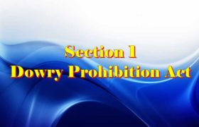 Section 1 Dowry prohibition act 1961 in Hindi