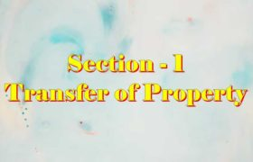 Section 1 of Transfer of property Act Hindi