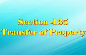 Section 135 of Transfer of property Act