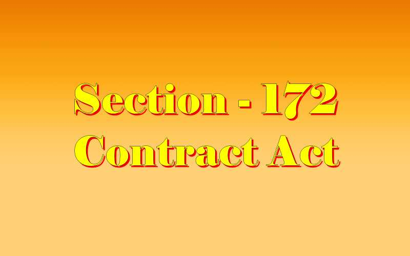 धारा 172 संविदा अधिनियम | Section 172 Indian Contract act ...