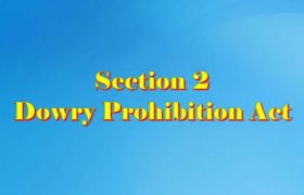 Section 2 Dowry prohibition act 1961 in Hindi