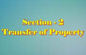 Section 2 of Transfer of property Act