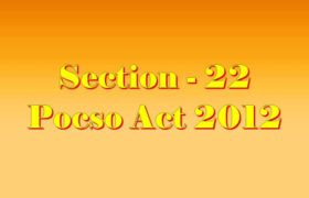 Section 22 Pocso Act 2012 in Hindi