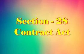 Section 28 Indian Contract act 1872 in Hindi