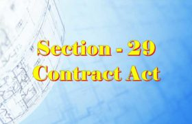 Section 29 Indian Contract act 1872 in Hindi