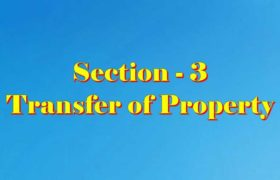 Section 3 of Transfer of property Act