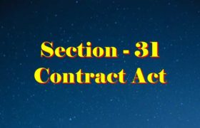 Section 31 Indian Contract act 1872 in Hindi