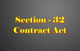Section 32 Indian Contract act 1872 in Hindi