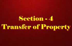 Section 4 of Transfer of property Act