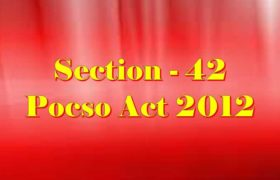 Section 42 Pocso Act 2012 in Hindi