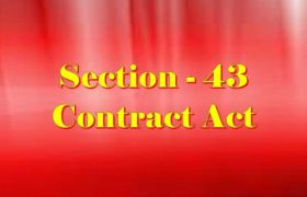 Section 43 Indian Contract act 1872 in Hindi