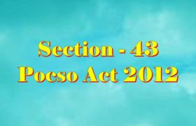 Section 43 Pocso Act 2012 in Hindi