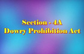 Section 4A Dowry prohibition act in Hindi