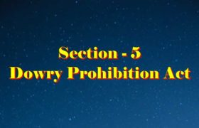 Section 5 Dowry prohibition act 1961 in Hindi