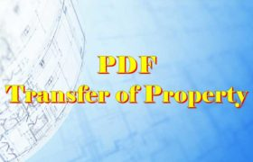 Transfer of property Act PDF