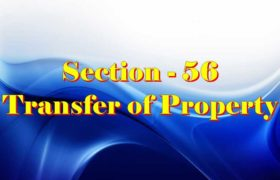 Section 56 of Transfer of property Act