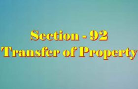 Section 92 of Transfer of property Act