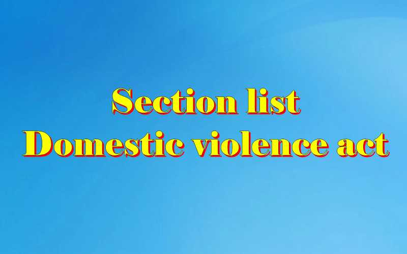 Domestic violence act sections list