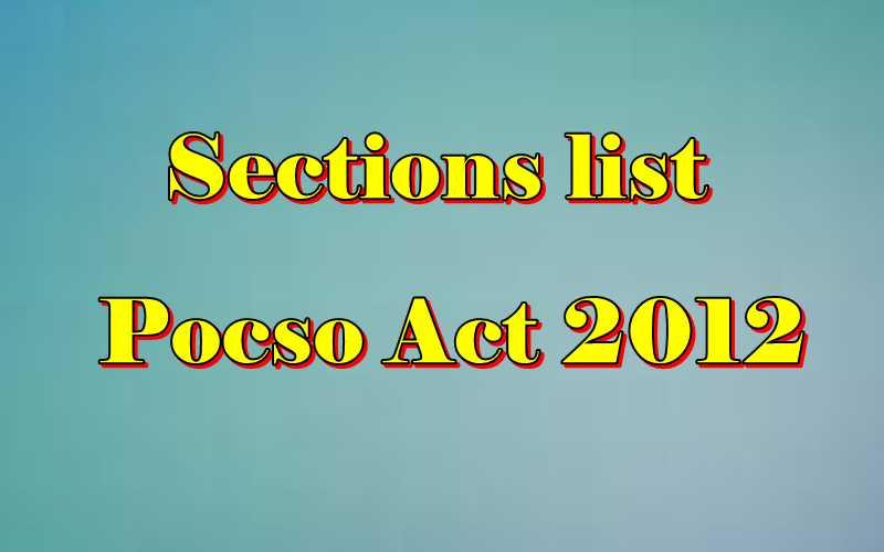 Pocso Act sections list