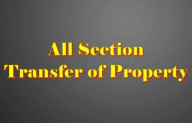 Transfer of property Act Section list in hindi