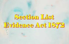 Evidence act sections list