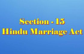 Section 15 of Hindu Marriage Act