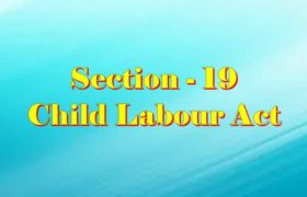 Section 19 of Child Labour Act