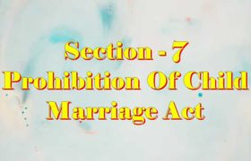 Section 7 of Child Marriage Act