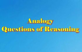 Analogy Questions of Reasoning