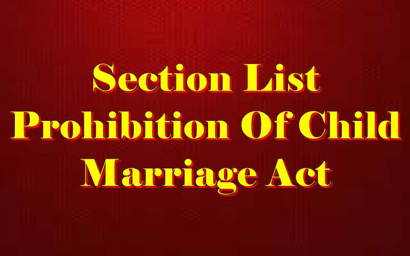 Child Marriage Act section