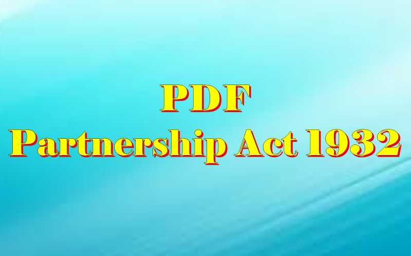 Partnership Act PDF