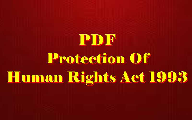 Protection of human rights Act 1993 PDF