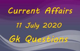 11 July 2020 Current affairs in Hindi