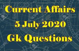 5 July 2020 Current affairs in Hindi