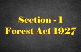 Section 1 of Indian Forest Act in Hindi