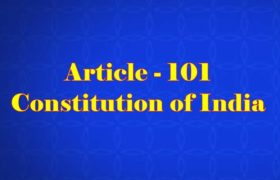 Article 101 of Indian Constitution in Hindi