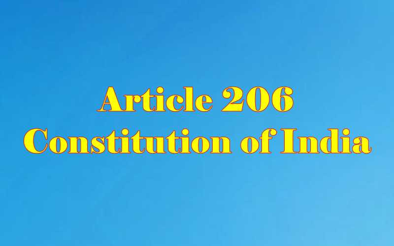 Article 206 of Indian Constitution in Hindi
