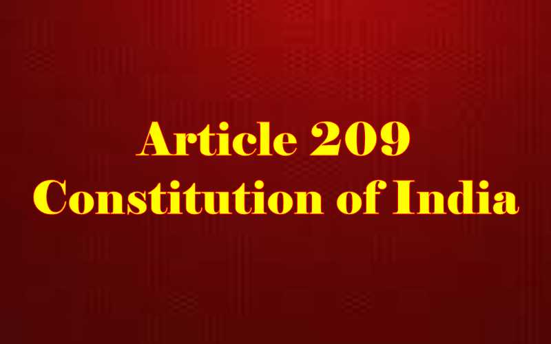 Article 209 of Indian Constitution in Hindi